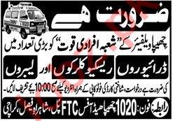 Chhipa Welfare Organization Jobs 2020 in Karachi