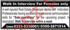 Real Estate Developers Jobs 2020 in Islamabad