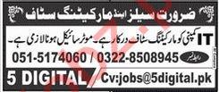 Marketing Staff Jobs 2020 in Rawalpindi
