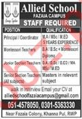 Allied School Fazaia Campus Jobs 2020