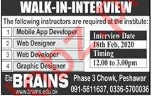 The Brains Institute Peshawar Walk In Interviews 2020