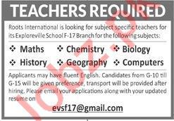Roots International Schools Islamabad Jobs 2020