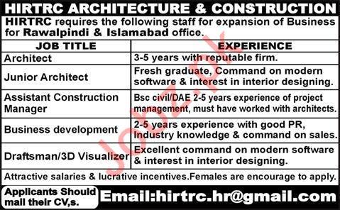 Hirtrc Architecture & Construction Company Jobs 2020