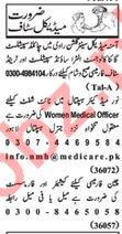 Nawaiwaqt Sunday Classified Ads 16 Feb 2020 Medical Staff