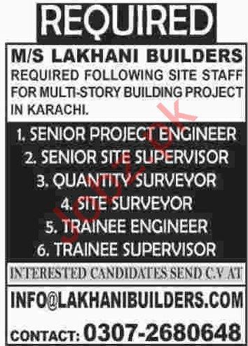 Project Engineer & Quantity Supervisor Jobs 2020
