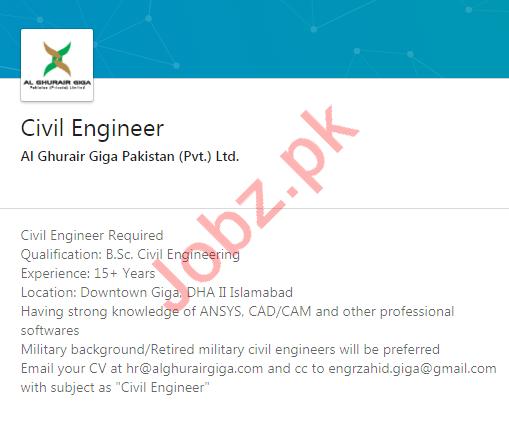 Al Ghurair Giga Pakistan Jobs 2020 for Civil Engineer