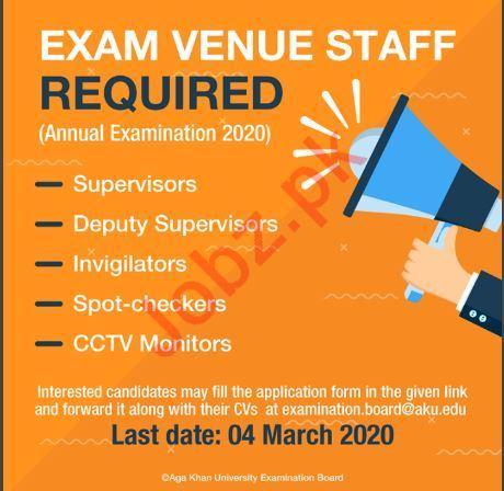 Aga Khan University Exam Venue Staff Jobs 2020