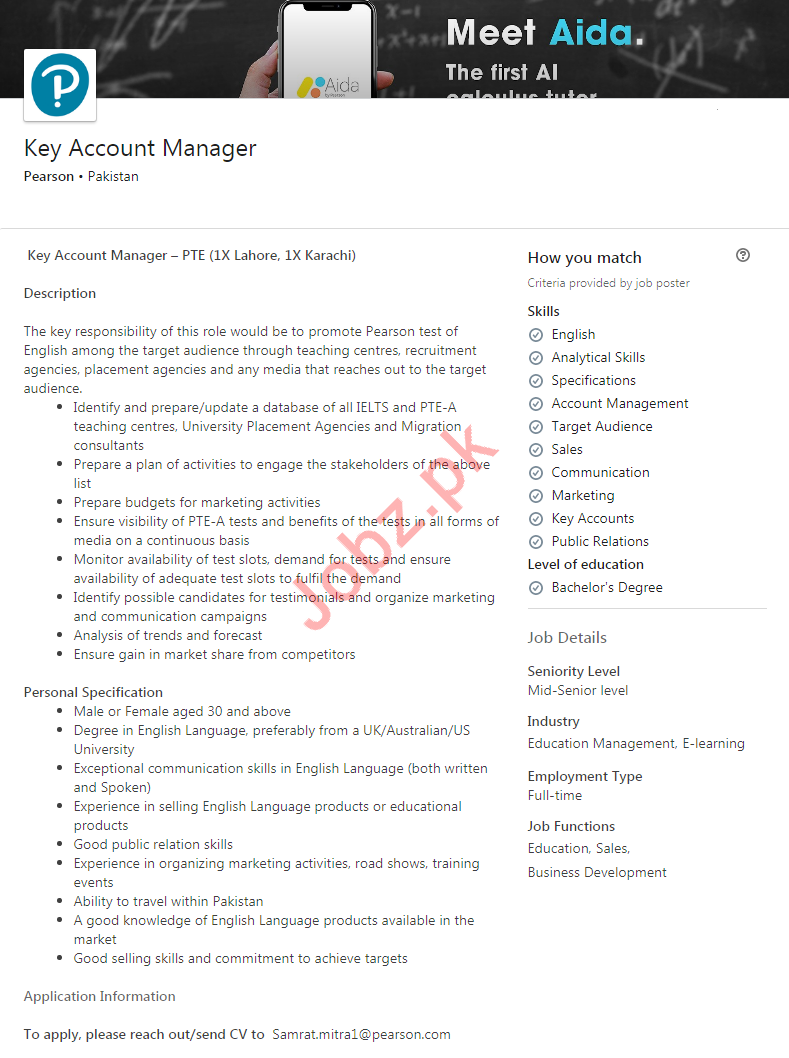 Key Account Manager Job 2020 in Karachi