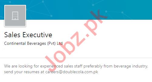 Continental Beverages Karachi Jobs 2020 for Sales Executive