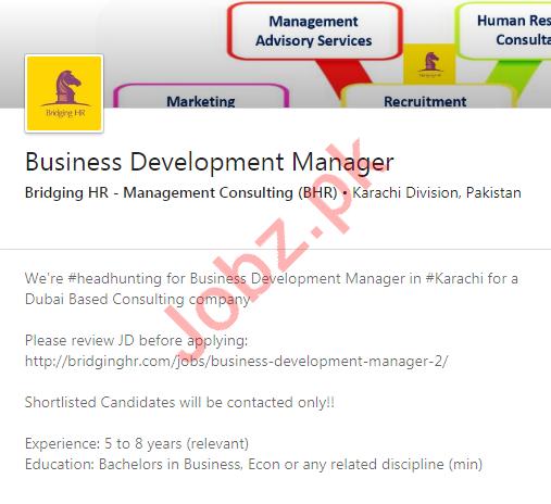 Bridging HR Management Consulting BHR Karachi Jobs 2020