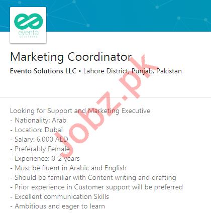 Evento Solutions LLC Jobs 2020 Marketing Coordinator