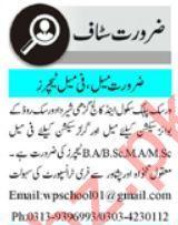 Warsak Public School & College Jobs For Teaching Staff
