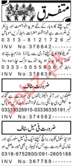 Daily Aaj Management Staff Jobs 2020 in Peshawar