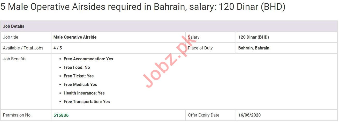 Operative Airsides Jobs in Bahrain