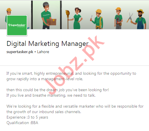 Digital Marketing Manager Job 2020 in Lahore