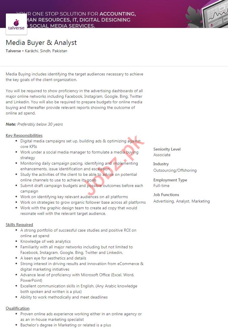 Talverse Private Limited Jobs 2020 in Karachi