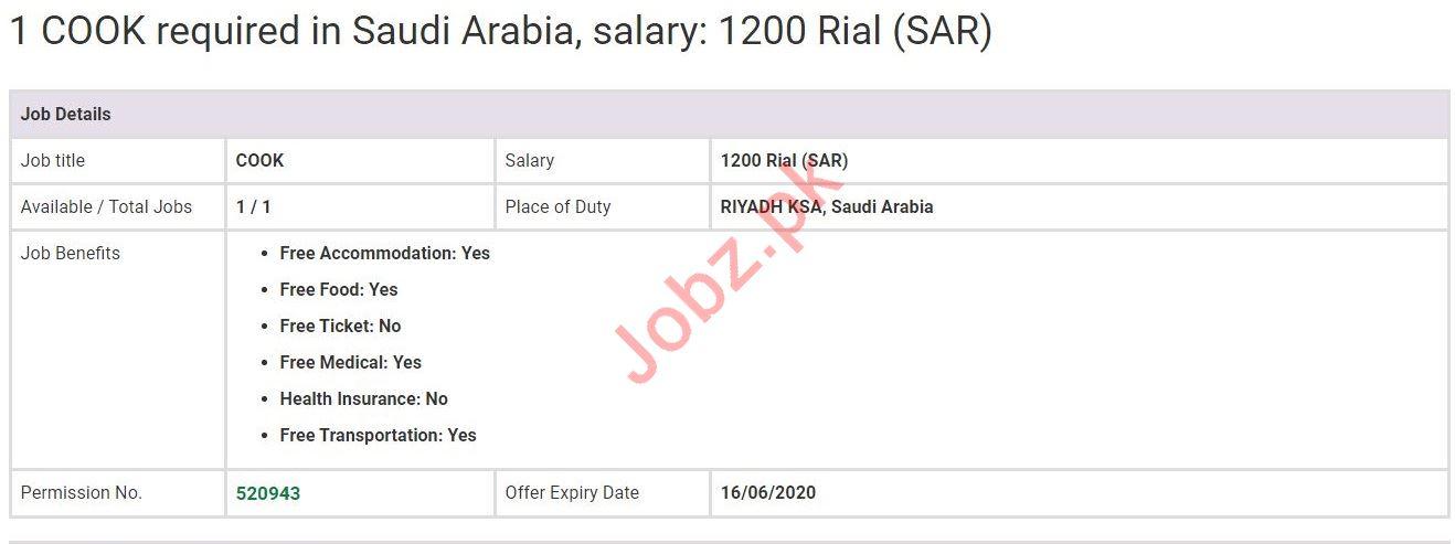 Cook Jobs in Riyadh Saudi Arabia