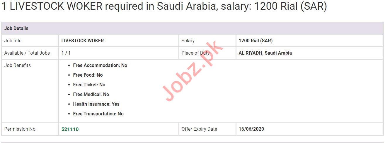 Livestock Worker Jobs in Al Riyadh Saud Arabia