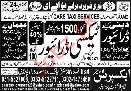 Taxi Driver Jobs in Cars Taxi Services UAE