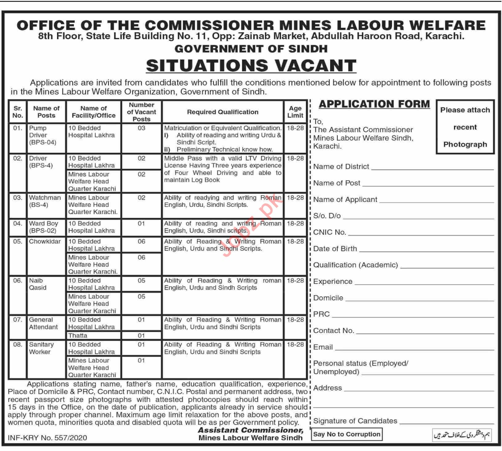 Sindh Mines & Mineral Development Department Jobs 2020
