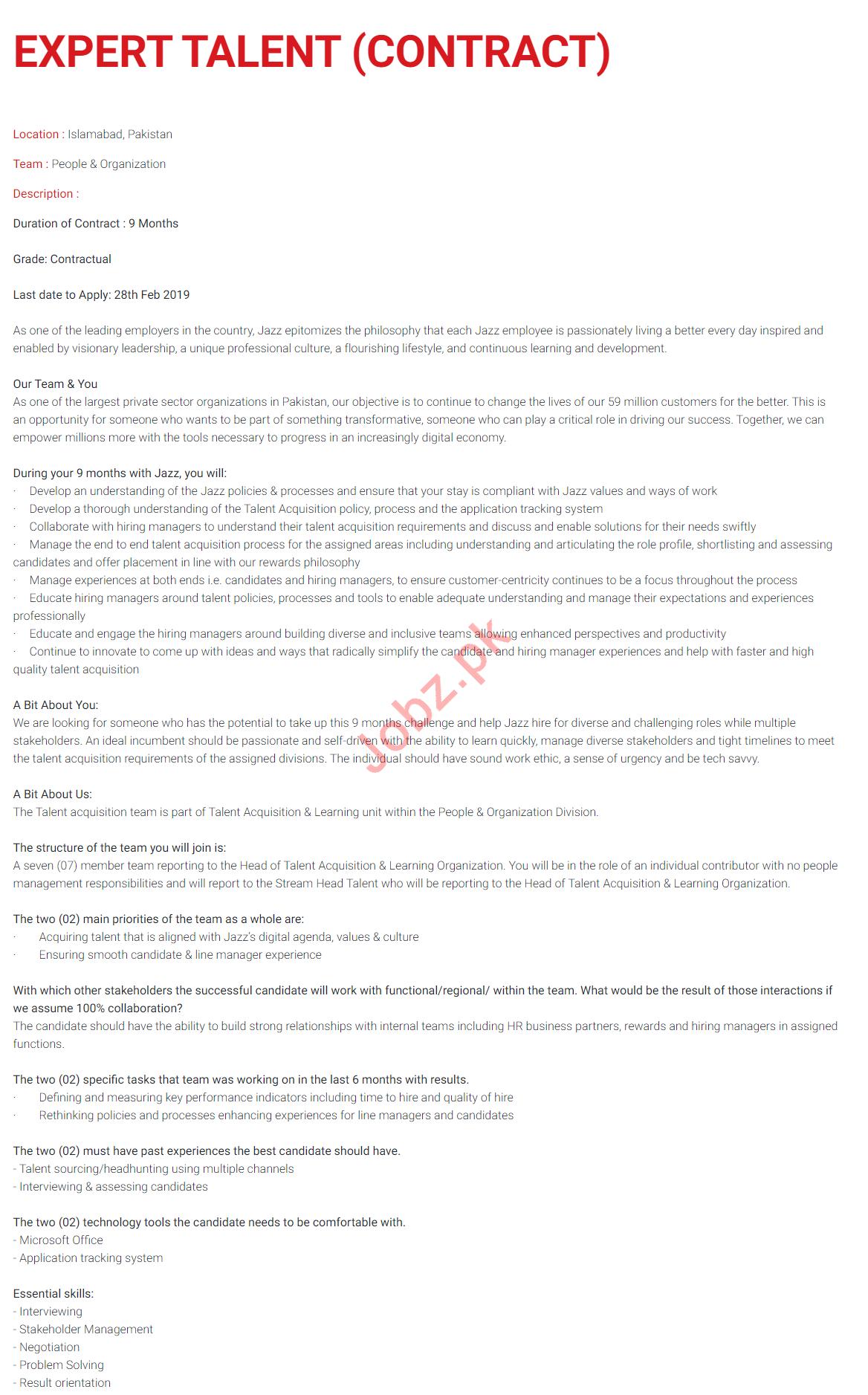 Jazz Telecom Jobs 2020 for Expert Talent