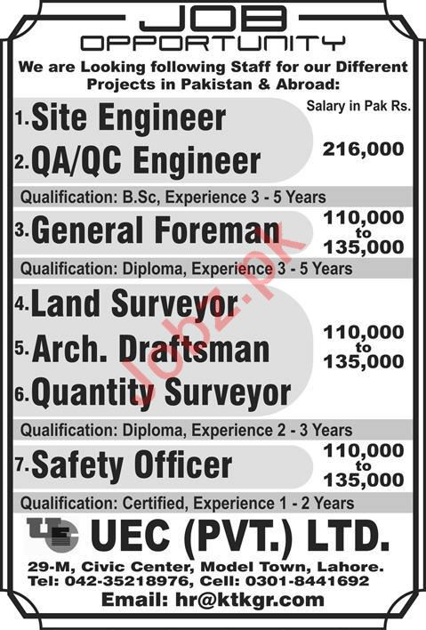 UEC Private Limited Technical Staff Jobs 2020