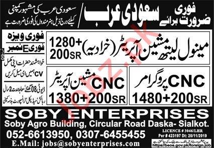 Manual Lathe Machine Operator & CNC Programmer Jobs 2020