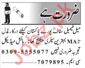Daily Jang Field Staff Jobs 2020 in Lahore
