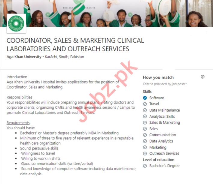Aga Khan University AKU Karachi Jobs 2020 for Coordinator