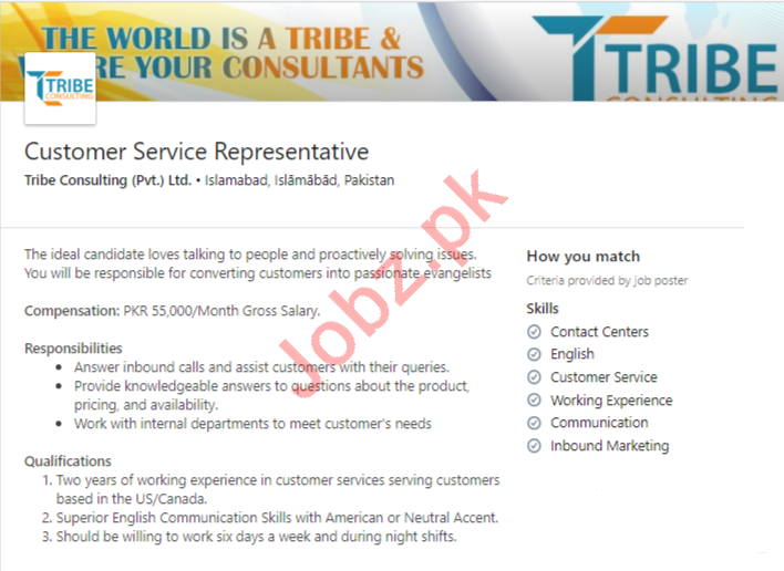 Tribe Consulting Jobs 2020 Customer Service Representative