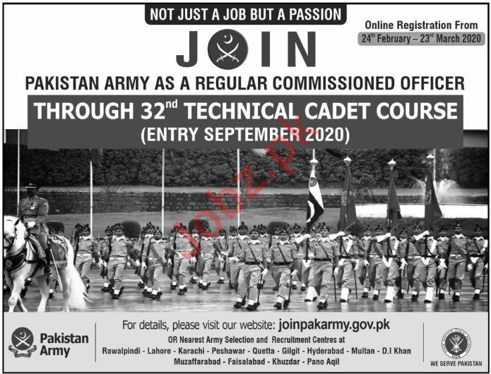 Join Pakistan Army Jobs 2020 for Commissioned Officer
