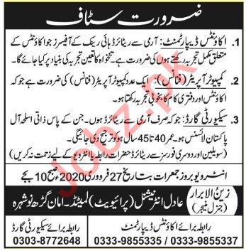 Adil International Private Limited Nowshera KPK Jobs 2020