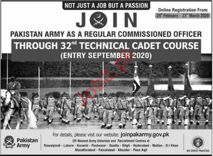 Commissioned Officer Jobs in Pakistan Army