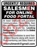 Salesman Jobs in Food Portal Restaurant