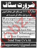 Multinational Company Jobs in Islamabad 2020