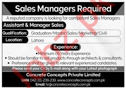 Sales Managers Jobs 2020 in Lahore
