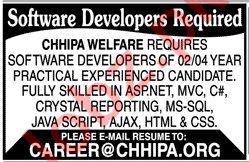 Software Developer Jobs in Chhipa Welfare