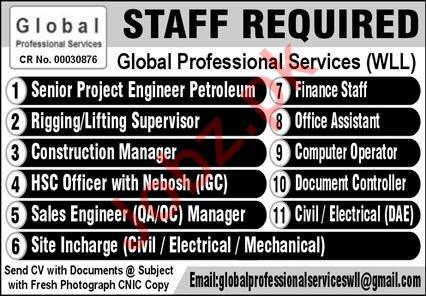 Global Professional Service Jobs 2020 in Qatar