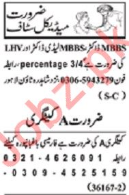 Nawaiwaqt Sunday Classified Ads 23rd Feb 2020 Medical Staff