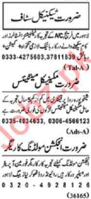 Nawaiwaqt Sunday Classified Ads 23rd Feb 2020 for Technical