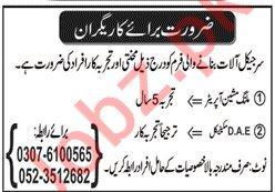 Technical Staff Jobs 2020 in Sialkot