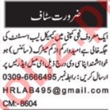Chemical Lab Assistant Jobs 2020 in Multan
