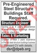 Pre Engineered Steel Structure Company Jobs 2020 in Lahore