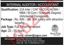 Internal Auditor & Accountant Jobs 2020 in Lahore