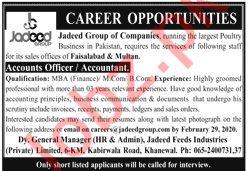 Jadeed Group of Companies Jobs 2020 in Khanewal