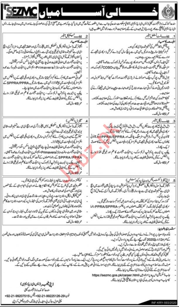 Management Jobs in SZMC in Karachi