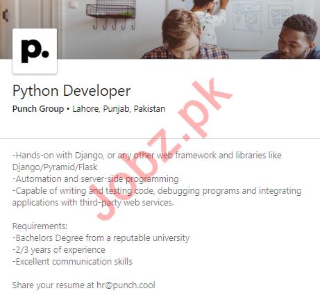 Punch Group Jobs 2020 for Python Developer