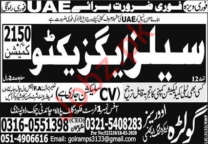 Sales Executive Job 2020 in United Arab Emirates UAE