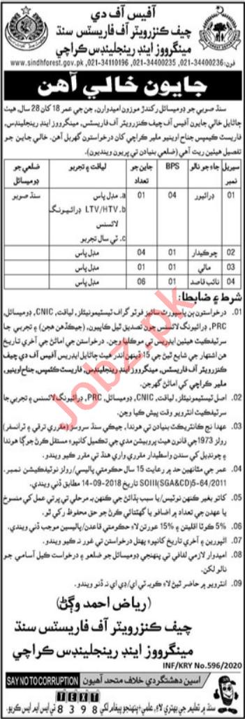 Sindh Mangos & Rangeland Karachi Jobs 2020