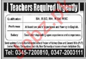 Teaching Jobs 2020 in Multan